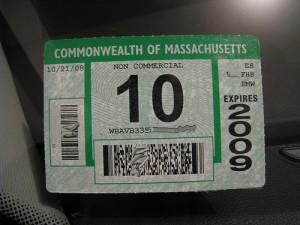 MA inspection sticker
